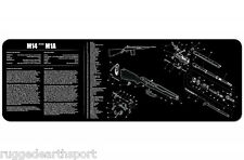 M14 Springfield M1A Rifle TekMat Gun Cleaning Mat 12x36 w Parts Schematic 36-M14
