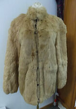Mademoiselle Ladies Medium Satin Lined Rabbit Fur Coat Hong Kong