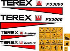 TEREX PS3000 DUMPER DECALS