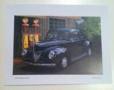 1940 Ford Deluxe Coupe Illustration 8x11 Reprint Garage Decor