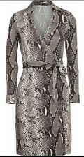 NWT! DIANE VON FURSTENBERG NEW JEANNE TWO PYTHON PRINT SILK JERSEY WRAP DRESS 2