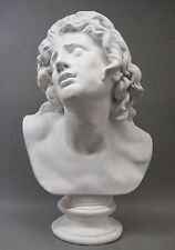 """Dying Alexander the Great Bust Sculpture 33"""" Uffizi Museum Replica Reproduction"""