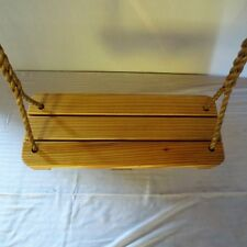 Special 24 Inch Wood Tree Swing with 10 Feet of  Handspliced  Rope Per Side