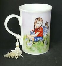Girl Cat Angel Coffee Mug Cup Hang in There Angel Star Garden USA Seller