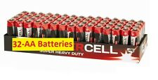 32 X AA POWERCELL DURALOCK BATTERIES MN9100 LR03 EXPIRY 2018