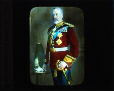 PHOTO ON GLASS HAND COLORED HIS MAJESTY KING GEORGE V
