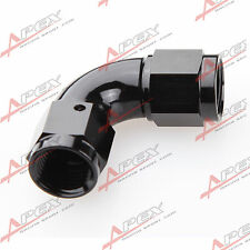 Alu Fitting 90° Female Adapter 4AN AN4 Dash 04 7/16-20UNF Verbinder Fluß Schwarz