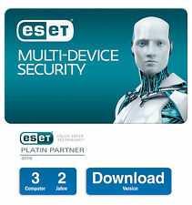 ESET Multi-Device Security | 3 Geräte - 2 Jahre | Download-Version