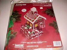 Janlynn Christmas Plastic Canvas Gingerbread House Tissue Box Candy Box Dish New