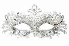 Masquerade Mask Venetian Masquerade Women Mask Costume Party Face Mask (White)