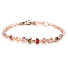 Womens Fashion Jewelry Bracelet Crystal 18K Rose Gold Filled Korean Wholesale