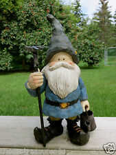 WOODLAND GARDEN w/watering can  GNOME ANTHONY FISHER 12 IN.YARD DECOR ORNAMENT