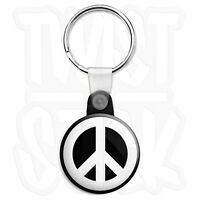 CND Logo - Peace Sign - 25mm Love Symbol Keyring Button Badge, Zip Pull Option