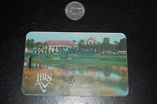 Old Used Vintage Golf Bag Tag IBIS Golf and Country Club , West Palm Beach , FL