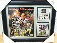Drew Brees New Orleans Saints Super Bowl XLIV MVP Plaque NFL Framed Just Reduced