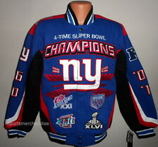 New York Giants 4 -Time Super Bowl Championship Jacket Size Large Free Shipping