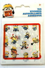 104 Despicable  Me 2 Minions Stickers Party Favors Teacher Supply Rewards