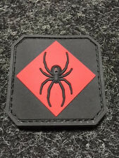 MIL SPEC MONKEY RED BLACK SPIDER tactical PVC rubber MORALE PATCH