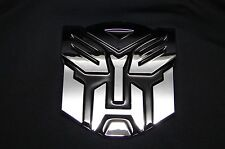 3D TRANSFORMERS EMBLEM STICKER  FOR CARS 3D GIANT 5 INCH ABS AUTOBOT EMBLEM