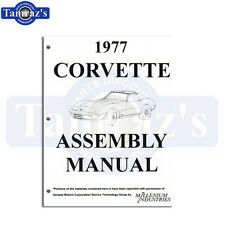 1977 Corvette Factory Assembly Manual Loose Leaf UnBound Book 503 pages New