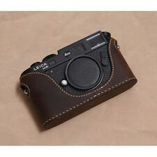 Leather Half Case for Leica M6, M7, MP, M3  (Brown/Tan) - BRAND NEW