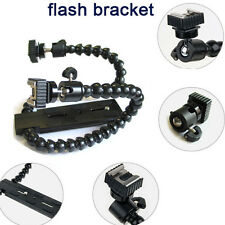Dual/ Twin-Arm/Hot shoe Flash Bracket for CANON NIKON PENTAX MACRO SHOT Flexible