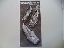 advertising Pubblicità 1972 SCARPE MADRAS - BASSANO DEL GRAPPA