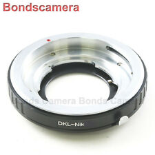 Voigtlander Bessamatic Retina DKL Lens to Nikon F Mount Camera ADAPTER D750 D810