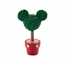 Dept 56 Disney Christmas Village Mickey's Topiary Ear Shaped Plant Pot 4028299
