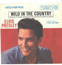 ELVIS PRESLEY--PICTURE SLEEVE + 45--(feel so bad)---ps--pic--slv