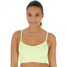 adidas Womens SML 3 In 1 Sports Bra Light Flash Yellow size S 8-10