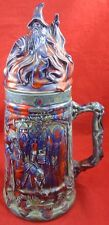 Vintage CERAMIC DRINKING STEIN HIGH FANTASY Adventurer Dragon Wizard Sword Mage