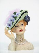 "Cameo Girls Head Vase Abigail 1911 ""Easter Bonnet"" MIB FREE SHIPPING"