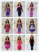 15 items= 5 Lovely Fashion Clothes/Outfit/Dress +10 shoes For Barbie Doll