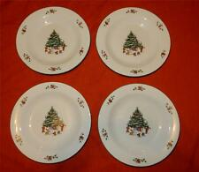 Salem Whimsical Christmas Lot of 4 Salad Plates 8 1/4""