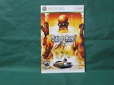 Saints Row 2 Manual for Xbox 360 *MANUAL ONLY*