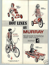 1967 PAPER AD Murray Pedal Car Fire Ball Race Racer Station Wagon High Rise Bike