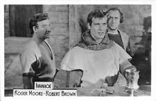 B59025 Ivanhoe Roger Moore Robert Brown actors acteurs 9x7cm