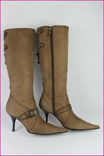 0 Bottes LUCIANO PADOVAN Tout Cuir Chamois 39,5 IT / 40,5 FR TBE