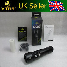 Xtar D26 100m Scuba Diving Torch LATEST CREE XM-L2 U3 (1100 Lumen) 26650 / 18650