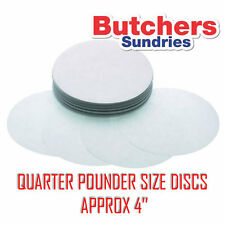 250 x WAXED Paper Burger Discs For QUARTER POUNDER Burger Press 4'' Diameter