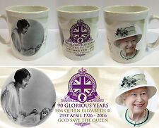 QUEEN ELIZABETH II - 90th BIRTHDAY CELEBRATIONS MUG - ROYAL CUP SOUVENIR BRITAIN