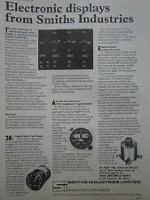 4/1970 PUB SMITHS ELECTRONIC DISPLAYS AVIATION HANOVER AIR SHOW ORIGINAL AD