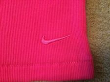 Womens NIKE Club Rib Tank Top Vest Running Casual Gym Yoga Pink RRP£29.99