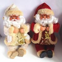 Cute Sitting Santa Claus Christmas Gift Toy Doll Flannel Home Xmas Decor 25* 10