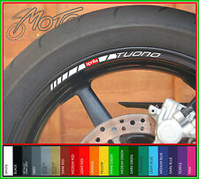 8 x APRILIA TUONO Wheel Rim Stickers Decals - Many Colours - factory mille r (n)
