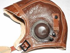 US Army AAF WW2 EASTMAN PILOT B-5 SHEEPSKIN LEATHER FLIGHT HELMET MINT NWT