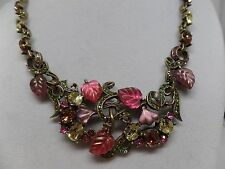 SWEET ROMANCE Leaves of Glass Necklace! Brand New!