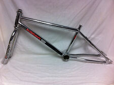 Rare Chrome JAMIS LASER SERIES 1000 ANLUN FRAME, FORK & HEADSET Old School BMX