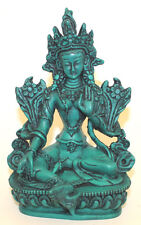 Resin Statue, Small Green Tara Buddha, Home Decor,Hand Craved,Nepal,CL-08G,New